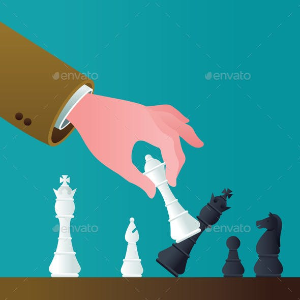 Checkmate Concept Illustration