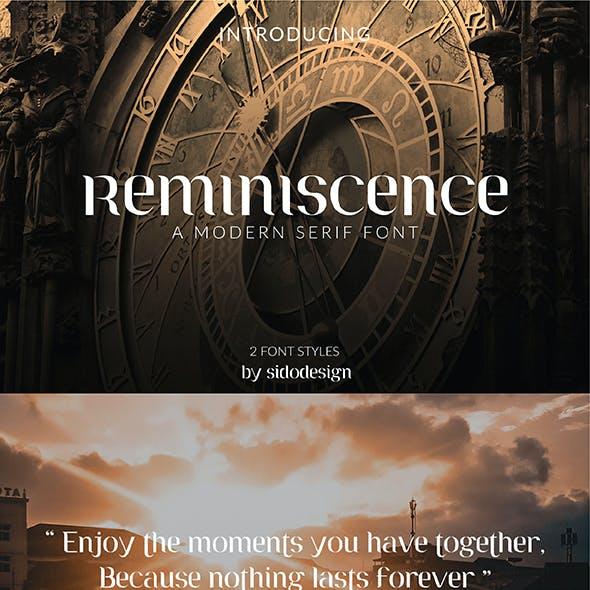 Reminiscence Font