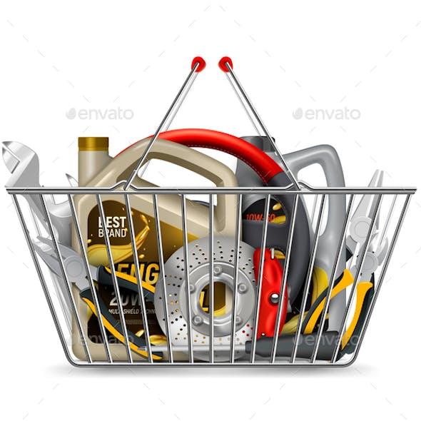 Car Parts Basket Composition