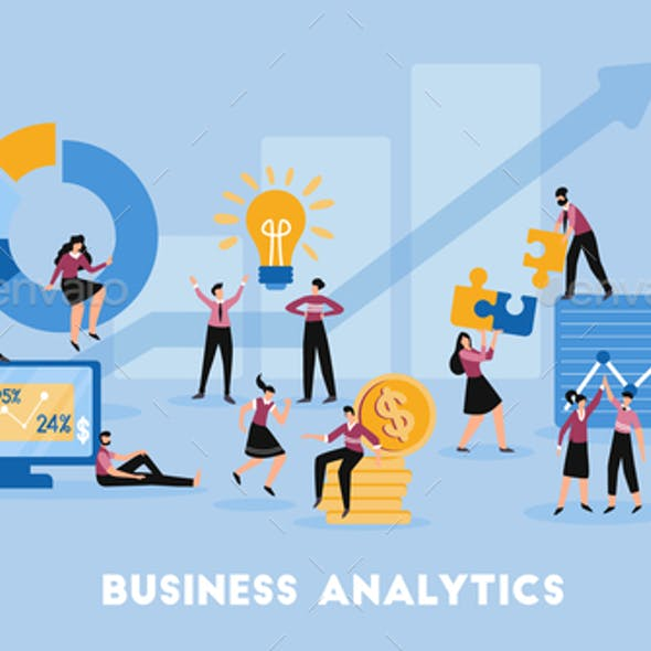 Business Analytics Flat Composition