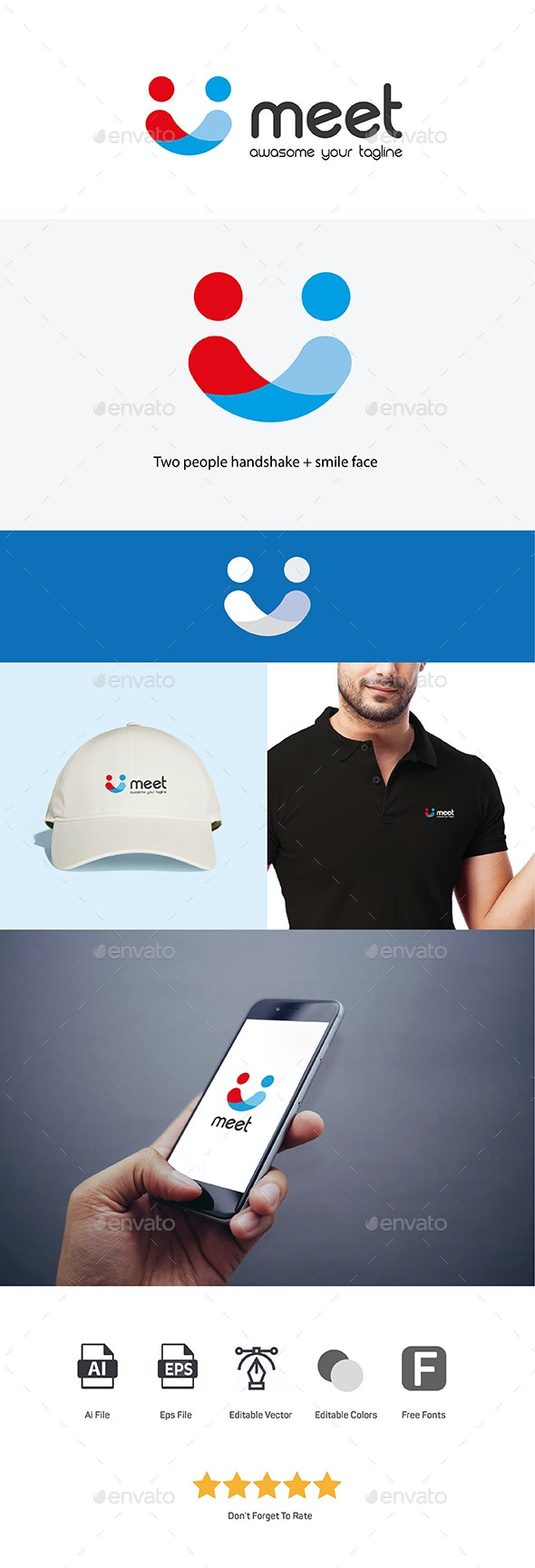 Meet Logo - Humans Logo Templates