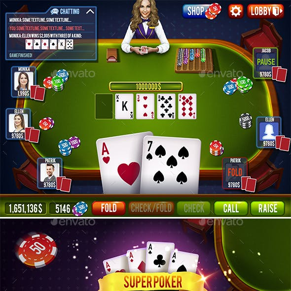 Poker or Blackjack Full Game Set