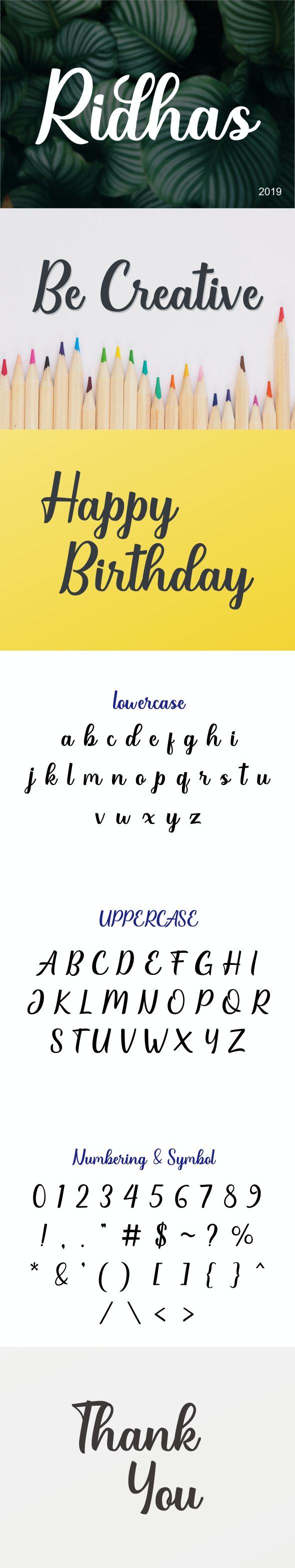 Ridhas - Handwriting Fonts