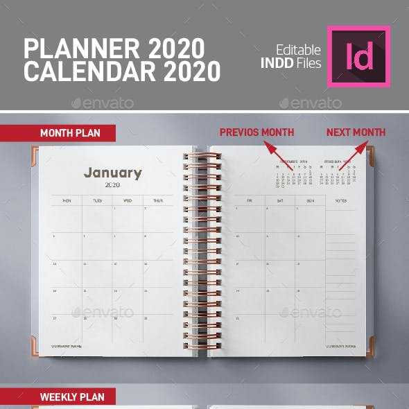 Planner and Calendar 2020