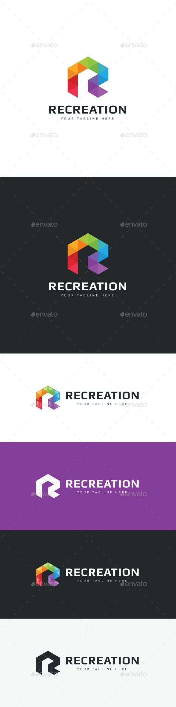 Recreation Logo - Letters Logo Templates