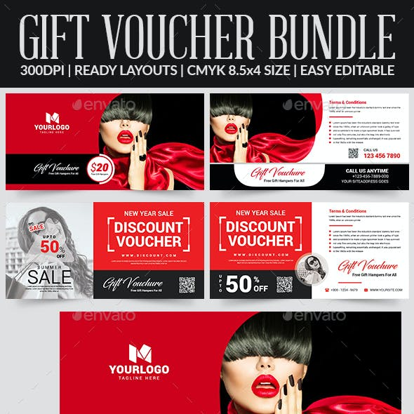 Gift Voucher Bundle Templates