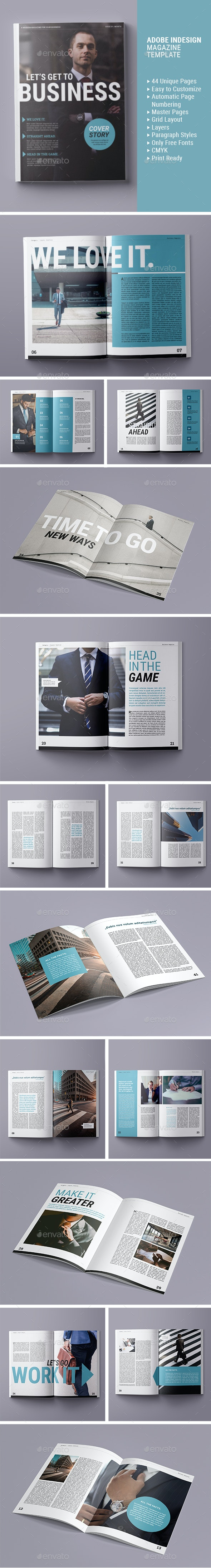 Magazine Template | Let's get to Business - Magazines Print Templates