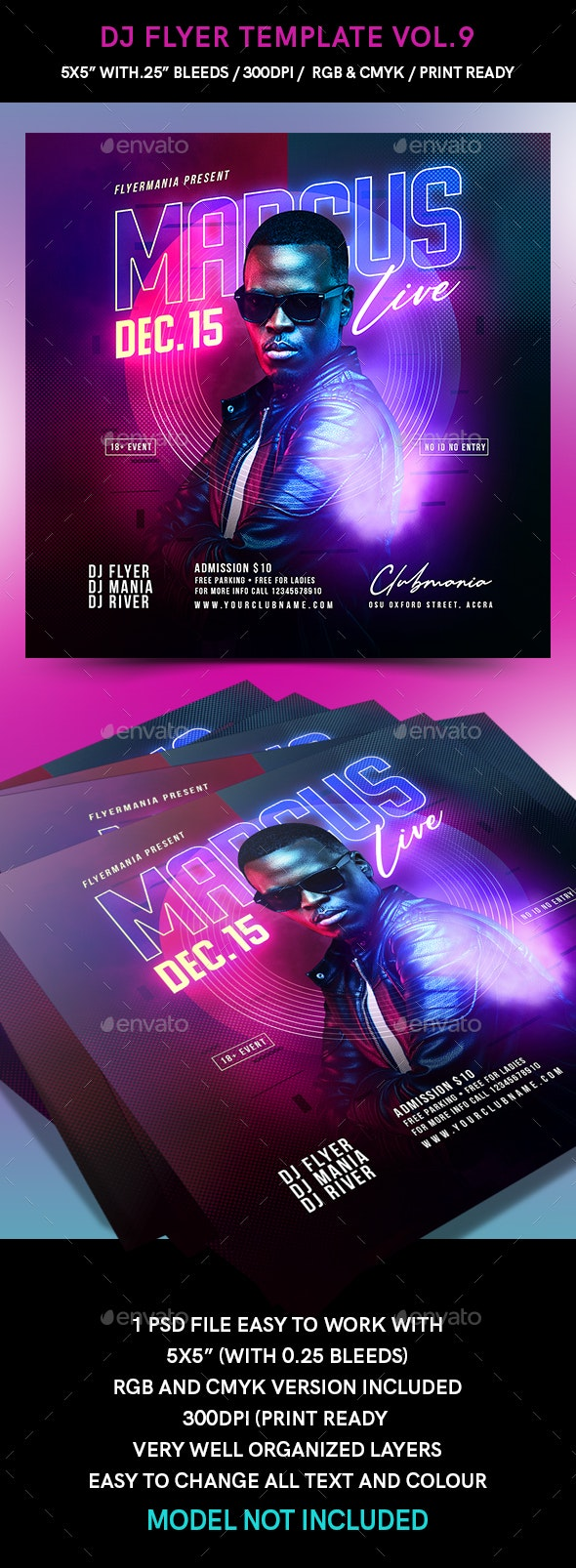 DJ Flyer Template Vol.9
