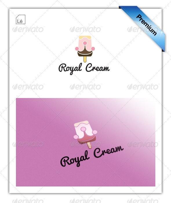 King Of Cream Ice Cream Crown Logo