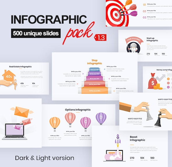 Infographic Pack 1.3 - PowerPoint Templates Presentation Templates