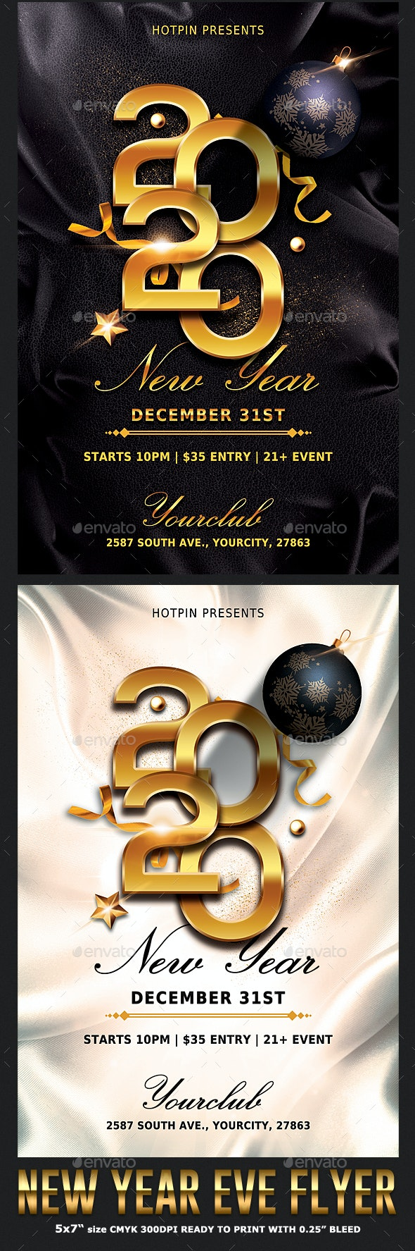 Classy New Year Party Flyer - Holidays Events