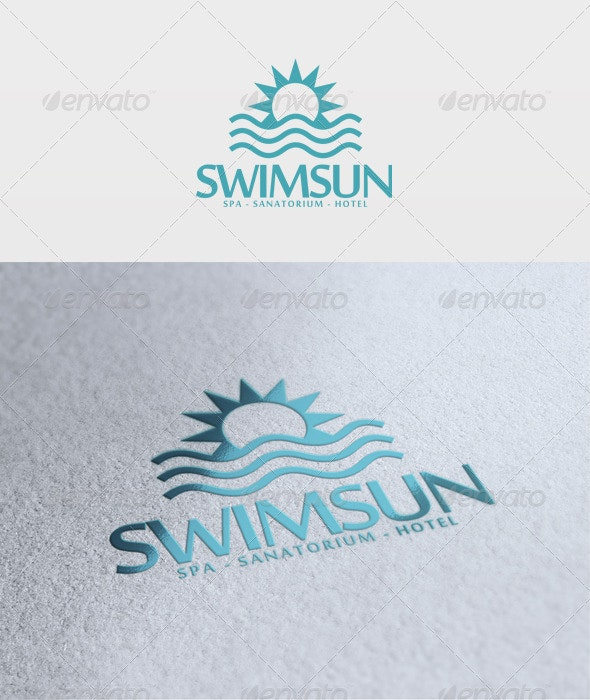 Swim Sun Logo - Nature Logo Templates