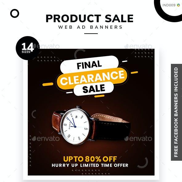 Product Sale Web Banner Set