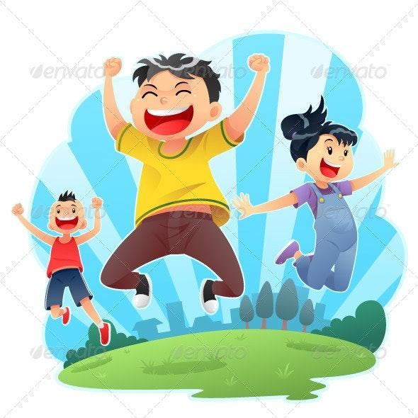 Happy Jumps - Characters Vectors