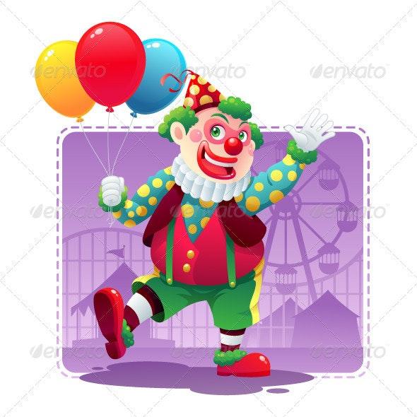 Happy Clown - Characters Vectors
