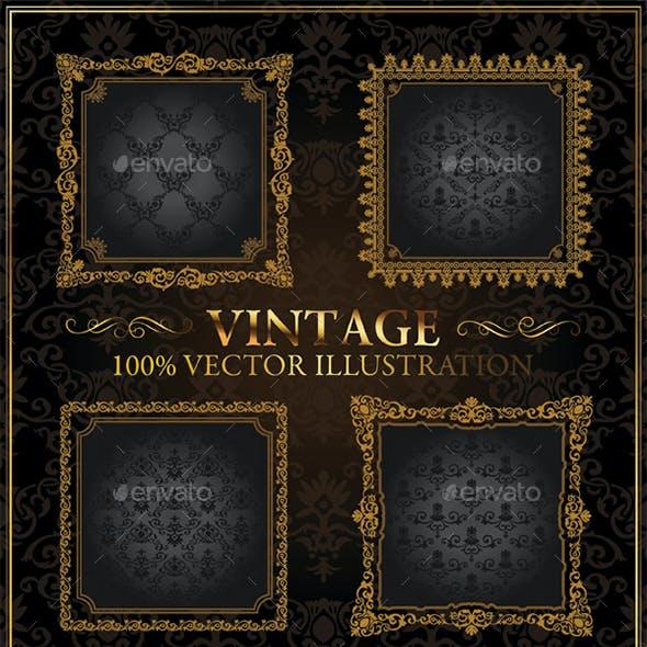 Vintage Decorative Gold Frames