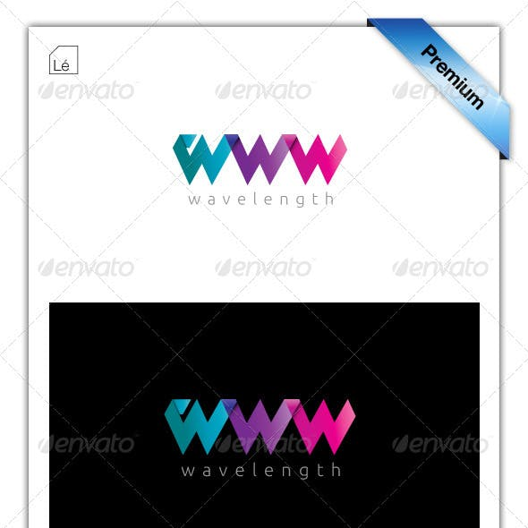 Wavelength WWW Web Design Logo