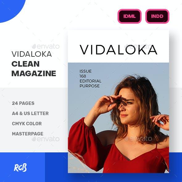 Vidaloka Clean Minimalist Magazine