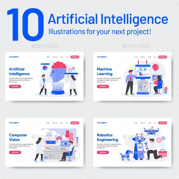 10 Artificial Intelligence Illustrations