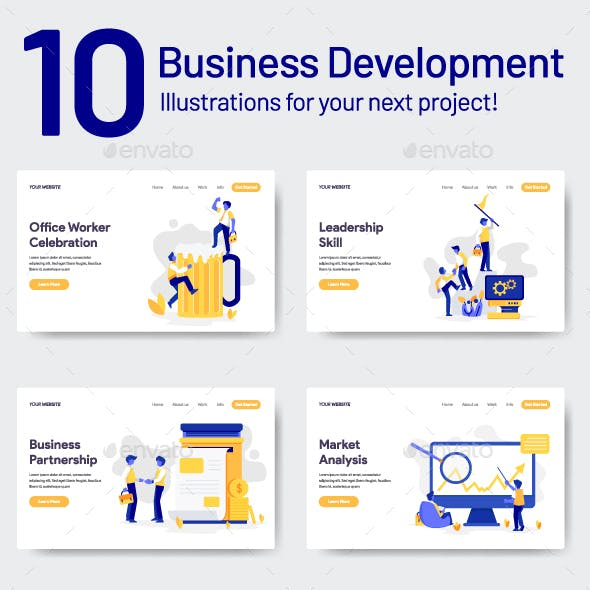 10 Business and Development Illustrations