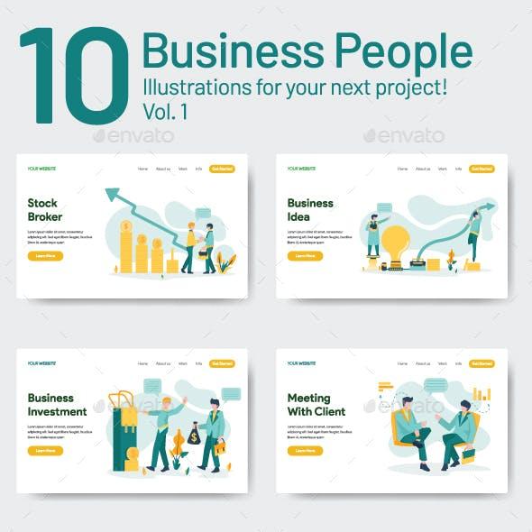 10 Business People Illustration Vol 1