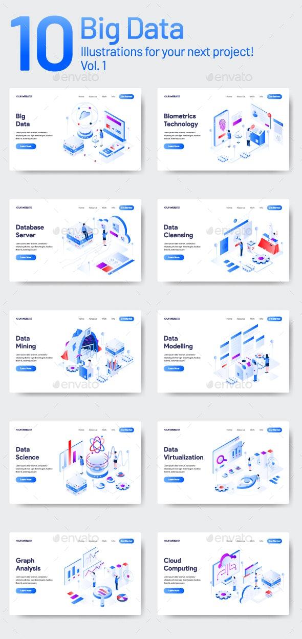 10 Data Illustration Vol 1 - Web Elements Vectors