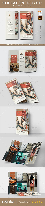 Education Tri-Fold Brochure Template - Corporate Brochures
