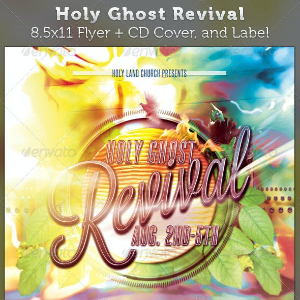 Holy Ghost Revival Full Page Flyer and CD Cover