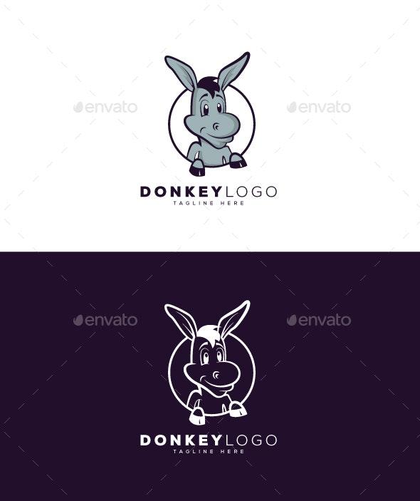Donkey Logo - Animals Logo Templates