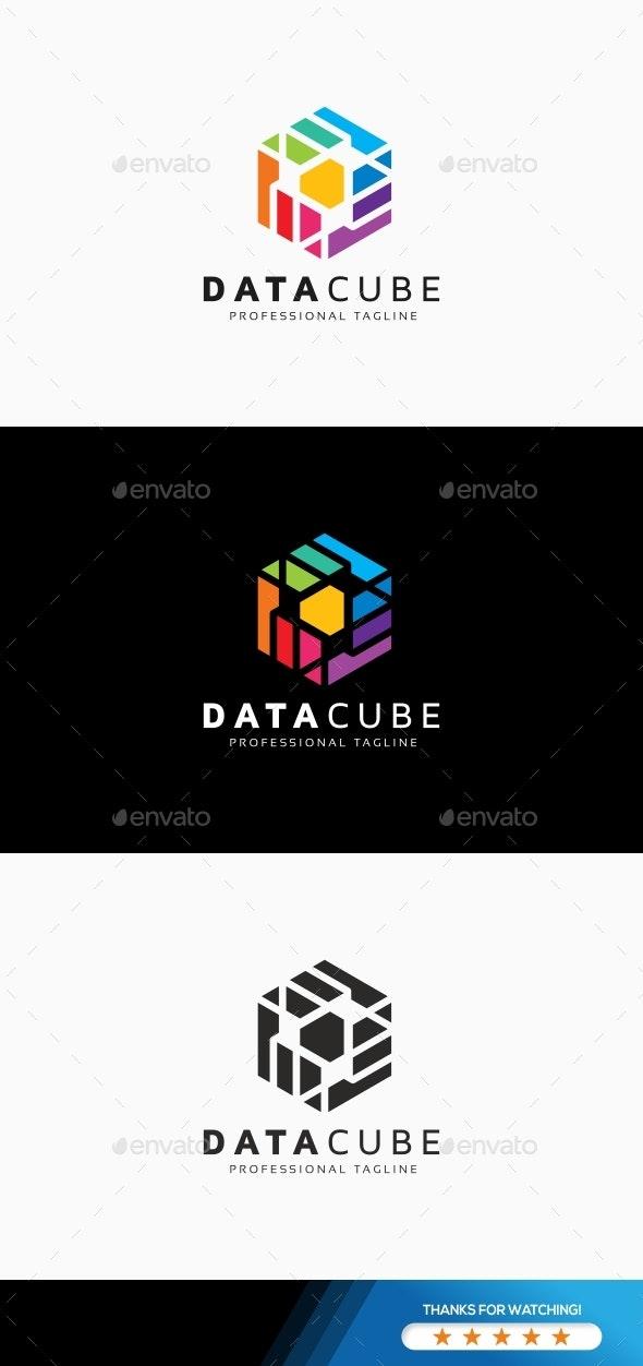 Data Cube Logo - Abstract Logo Templates