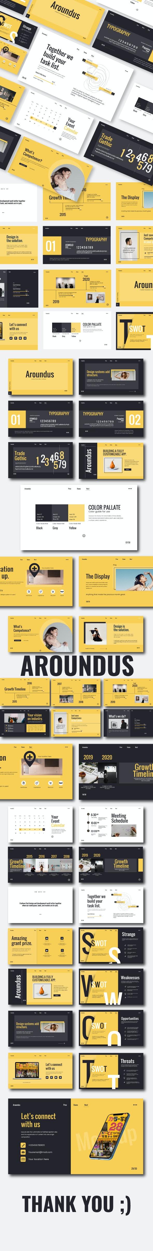 Aroundus Keynote Template - Keynote Templates Presentation Templates