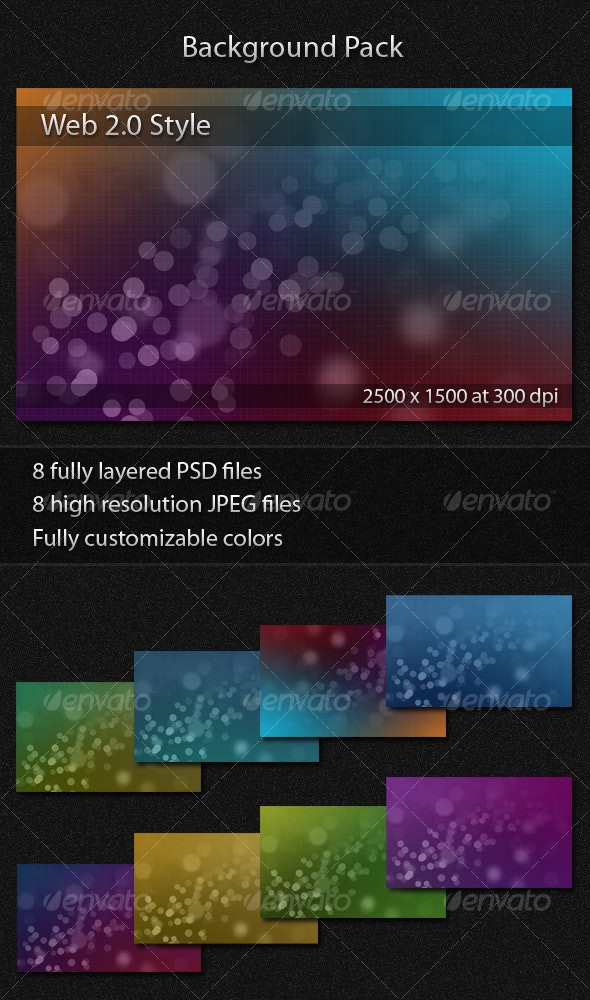 Background Pack WEB 2.0 Style - Backgrounds Graphics