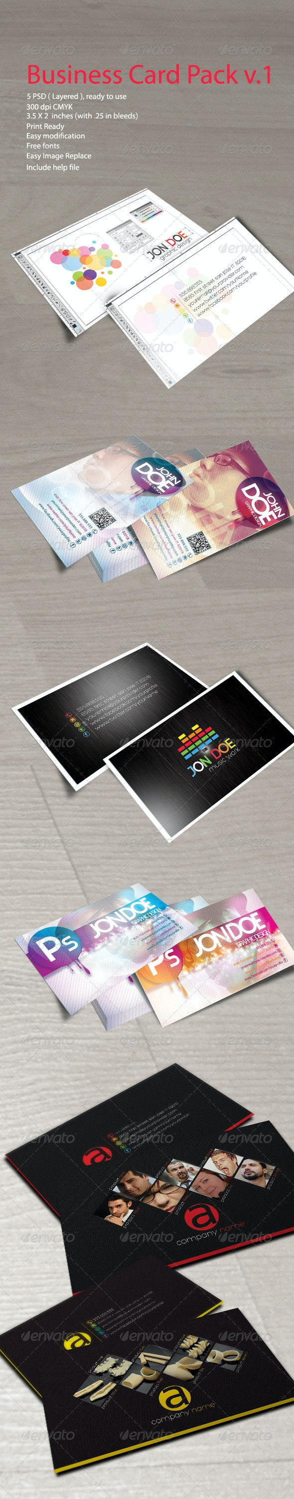 Business Card Pack Vol. 1 - Business Cards Print Templates