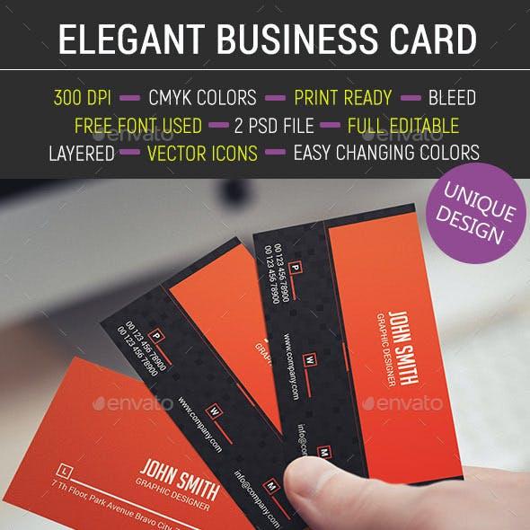 Elegant Business Card 406