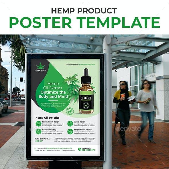 Hemp Product Poster Template