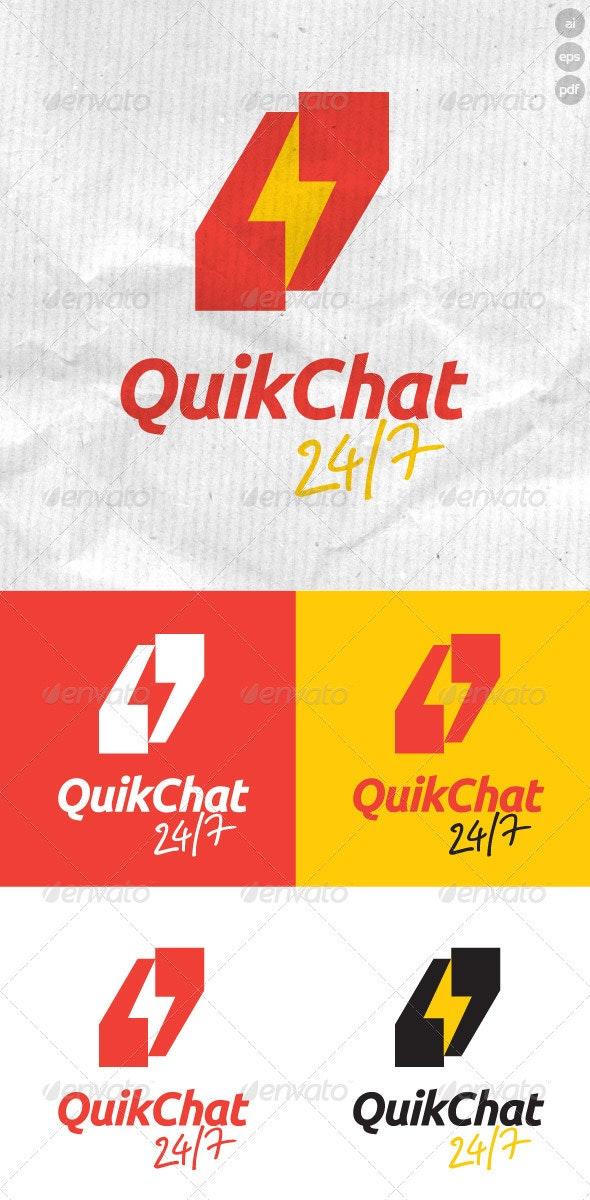 Quik Chat 24/7 Logo - Symbols Logo Templates
