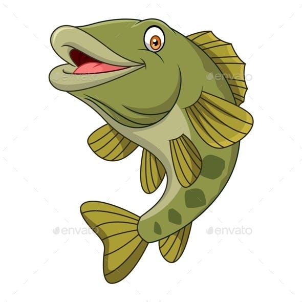 Cartoon Bass Fish