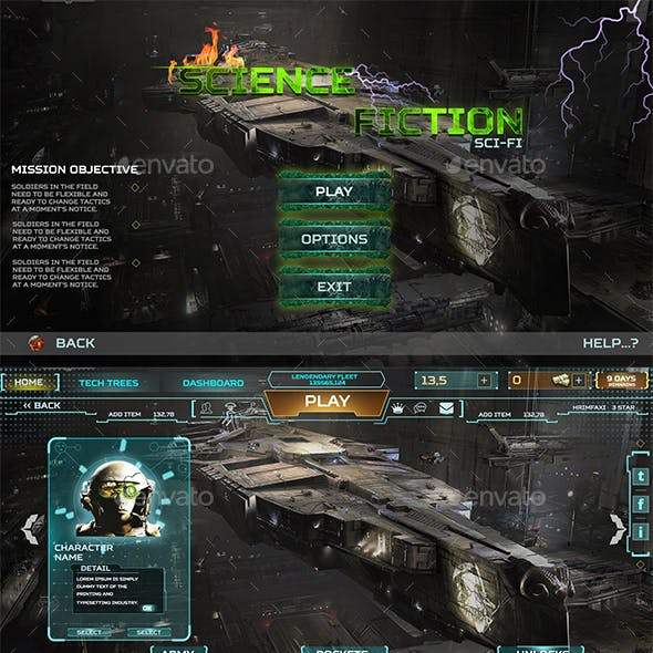 Science Fiction UI Pack