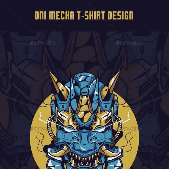 Oni Mecha T-Shirt Design