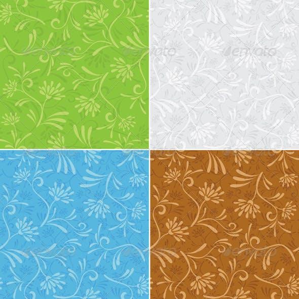 Floral Seamless Patterns - Set