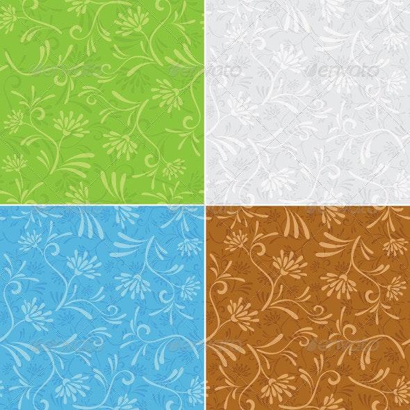Floral Seamless Patterns - Set - Patterns Decorative