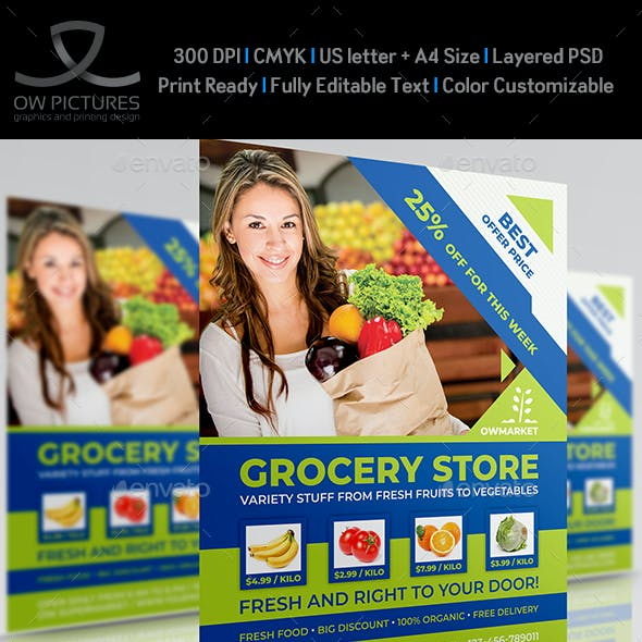 Grocery Store Flyer Template