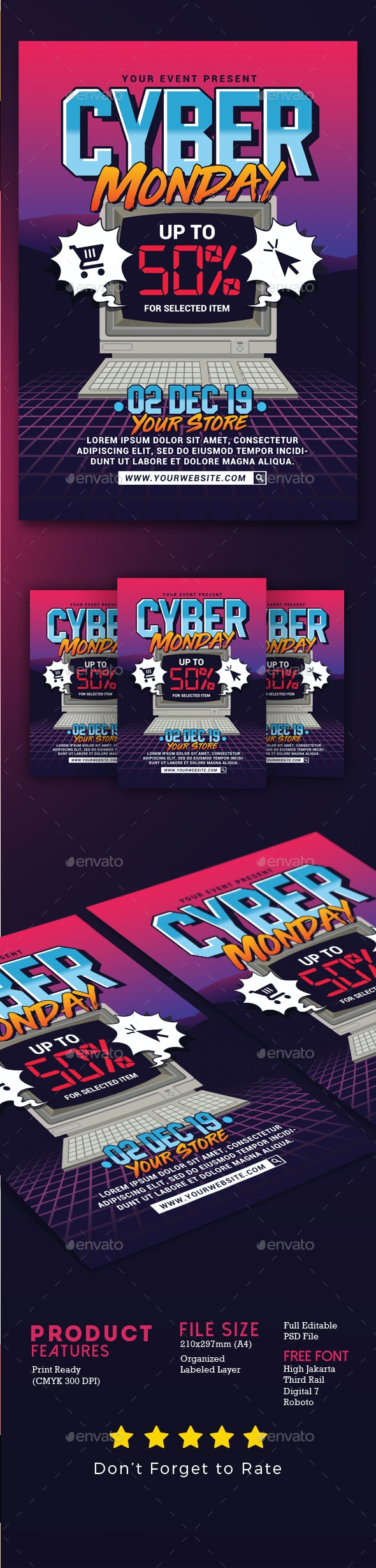 Cyber Monday Event Flyer