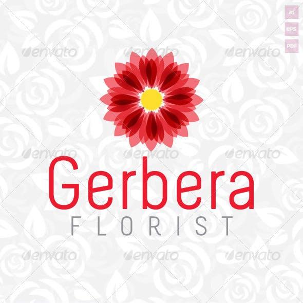 Gerbera Florist Logo