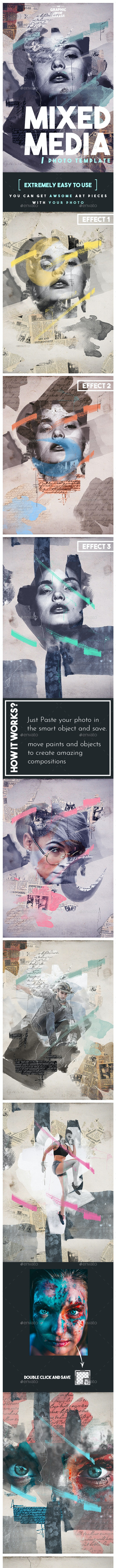 Mixed Media Photo Template - Artistic Photo Templates