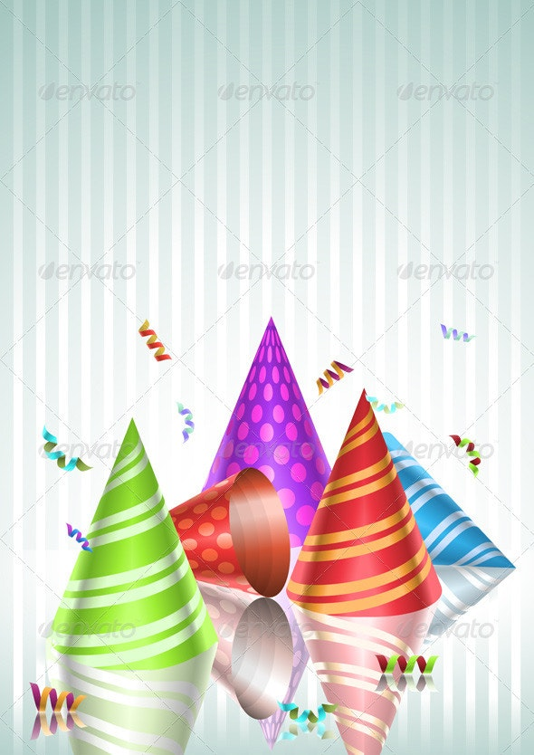 Colorful Party Hats - Man-made Objects Objects
