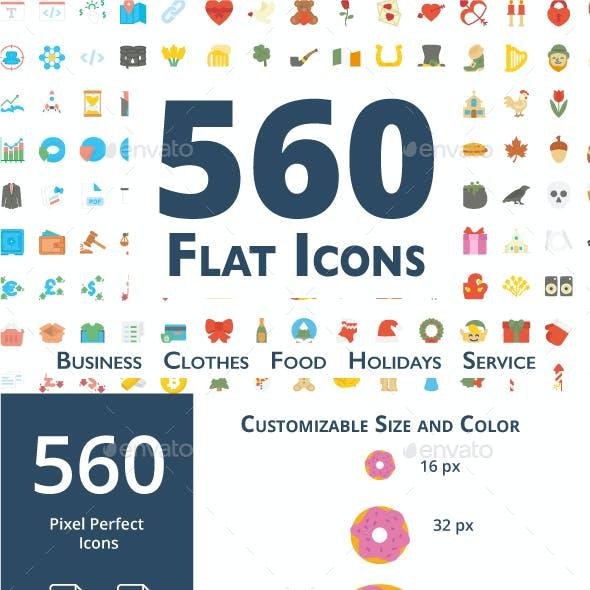 560 Flat Icons