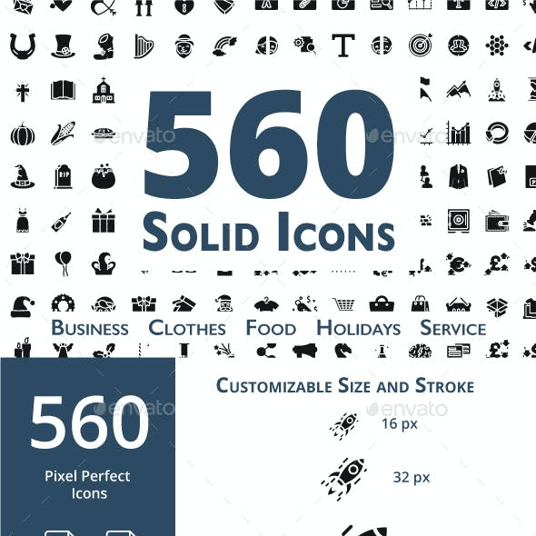 560 Solid Icons