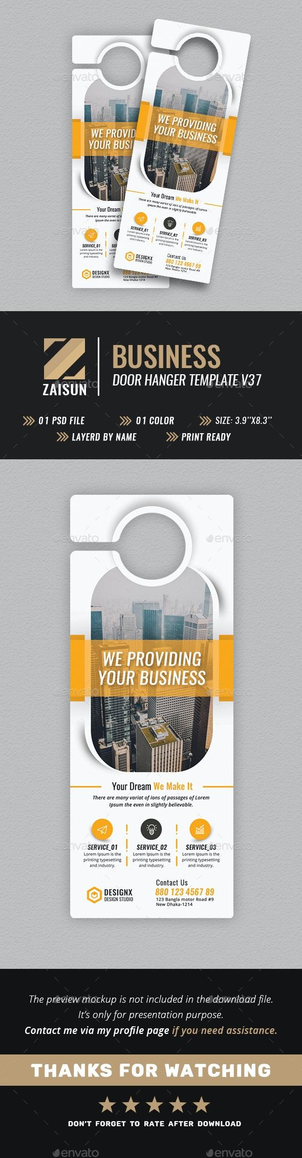 Business Door Hanger V37 - Miscellaneous Print Templates