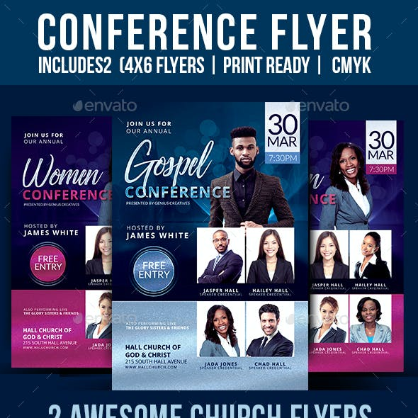 Church Conference  Flyer Template V5